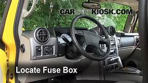 Interior Fuse Box Location  2003-2009 Hummer H2