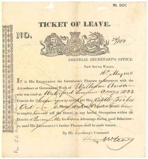 Ticket Of Leave Template by 34 Best Images About Convict Lives On Pinterest