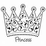 Crown Coloring Princess Tiara Netart Template Colouring Printable Queen Sheets Drawing Tiaras Outline King Heart sketch template