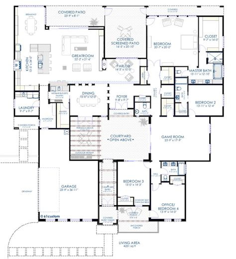 house plans with courtyard pools contemporary courtyard house plan house plans the