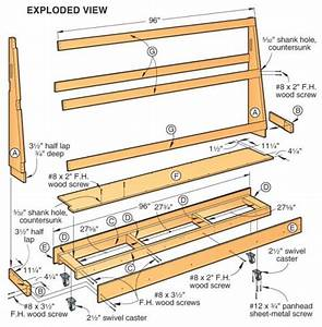 Roll-around plywood cart