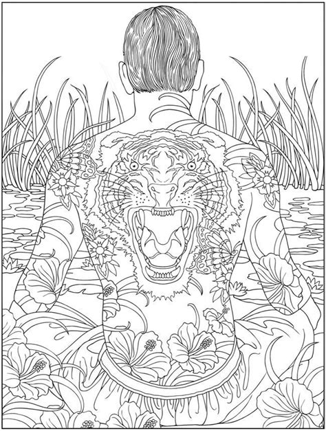 Awesome Tattoos for Men and Women | Coloring pages, Adult coloring pages, Coloring books
