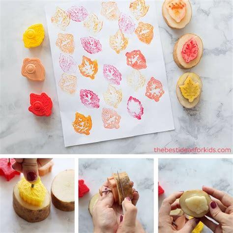 Potato Stamping  How To Make A Potato Stamp