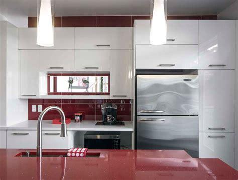 cuisine armoires blanches contemporain cuisitec