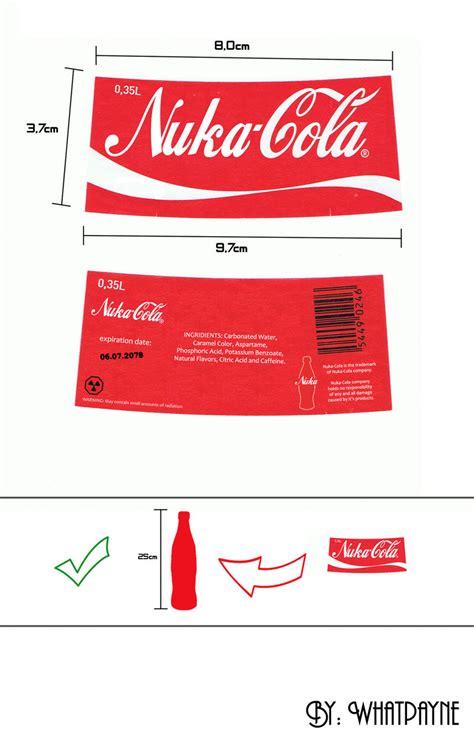 nuka cola quantum label printout fallout nuka cola label by whatpayne on deviantart