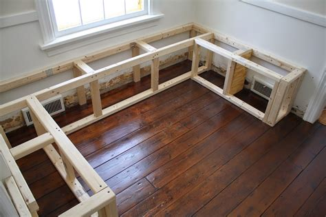 how to build a corner kitchen table breakfast nook bench plans dma homes 88211