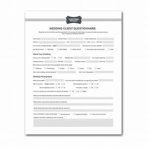 free printable wedding photography contract template form With wedding photography questionnaire