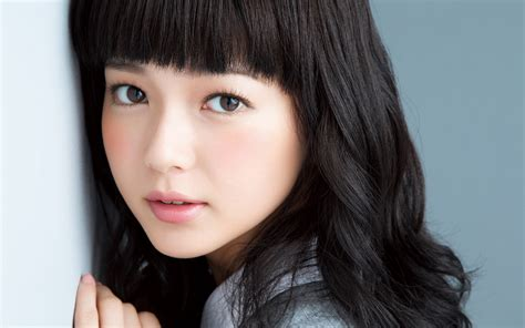 Beautiful Japanese girl, curly hair, lovely face wallpaper ...