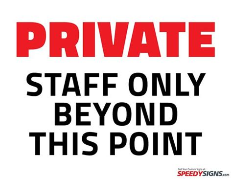 Free Private Staff Only Beyond This Point Printable Sign