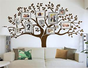 photo frame family tree decal wall decals wall decor With photo wall art
