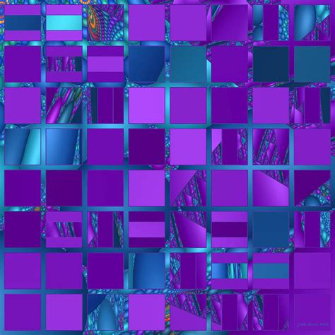 teal pillows mosaic in purple and teal digital by judi suni