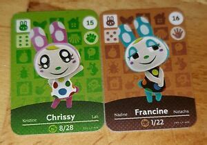 People also love these ideas. Animal Crossing New Horizons Amiibo/NFC- Chrissy(#15) + Francine(#16 )   eBay