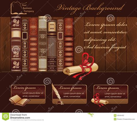 vintage book background stock vector illustration  book