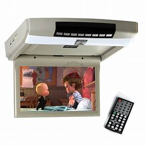 10 1 Inch Hd Led Overhead Monitor Flip Down Roof Mount