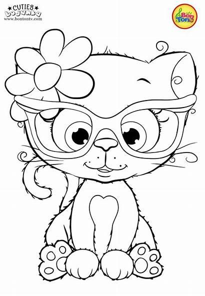 Coloring Pages Cuties Preschool Printables Bojanke Animal