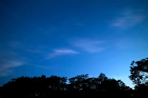 Free picture: dark blue sky, clear sky, dusk, stars ...