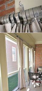 63 best pipe curtain rods images on pinterest for Outdoor balcony curtains