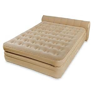 buy aerobed 174 luxury collection raised headboard airbed in beige from bed bath beyond