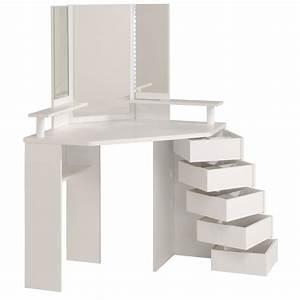 Coiffeuse Meuble Blanc : coiffeuse d 39 angle volage 12 ton blanc sb meubles discount ~ Teatrodelosmanantiales.com Idées de Décoration