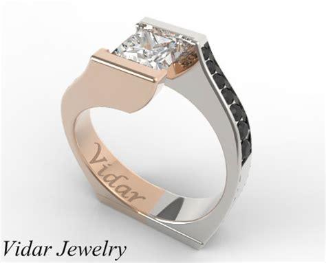 gold princess cut engagement rings princess cut two tone gold engagement ring vidar