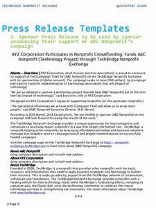quick start guide for your nonprofit technology With digital press release template