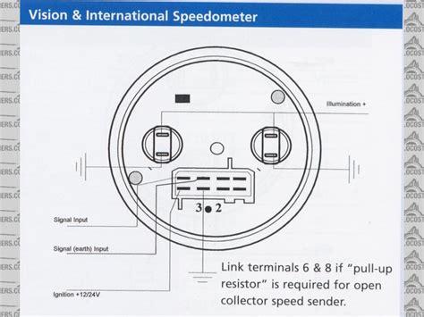 Vdo Tach Wiring Diagram by Vdo Electronic Speedometer Sender