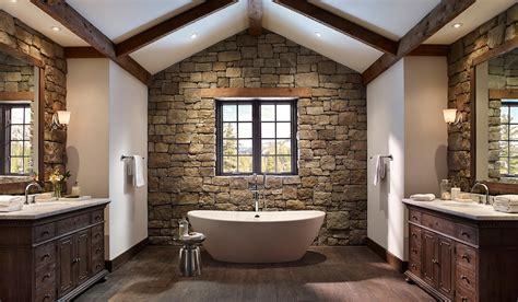 14 Striking Bathrooms With Stone Walls • Unique Interior