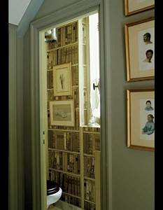 17 best images about papier peiny on pinterest get the for Kitchen cabinets lowes with papier peint bibliotheque