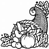 Cornucopia Coloring Thanksgiving Pages Printables Sheets Printable Turkey Fruit Cornacopia Fruits Vegetables Drawings Labels Colouring sketch template
