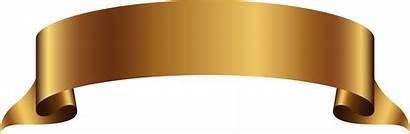 Banner Transparent Golden Ribbon Background Clip Pngkey