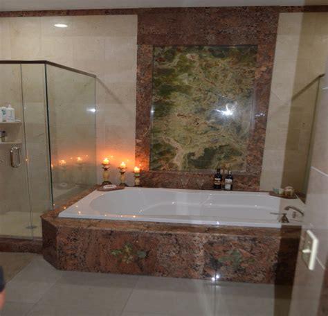 shower  jacuzzi mediterranean bathroom tampa