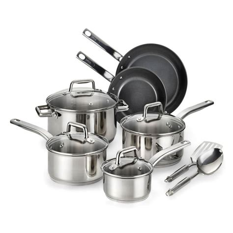 cookware steel fal stainless pans precision ceramic piece sets pots pc aluminum square housekeeping cooking jcpenney coating target these