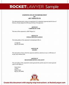 certificate of incorporation for delaware with sample With certificate of organization template