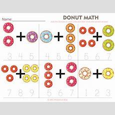 Donut Math Preschool Worksheet From Abcpreschoolboxcom  Free Printable Worksheets Preschool
