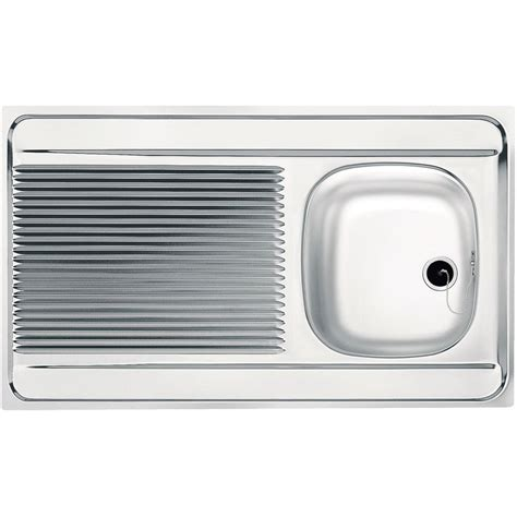 evier inox 224 poser 1 bac 1 233 gouttoir dimensions 80 x 60 013953 plomberie sanitaire chauffage