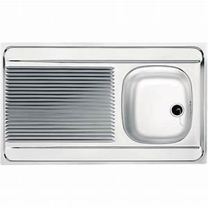 Evier 1 Bac Inox Sans Egouttoir : evier inox 1 bac ~ Premium-room.com Idées de Décoration