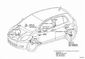 Toyota Yaris Abs Wheel Speed Sensor Wiring Harness  Left