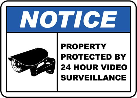 Property Protected By Surveillance Sign By Safetysign.com
