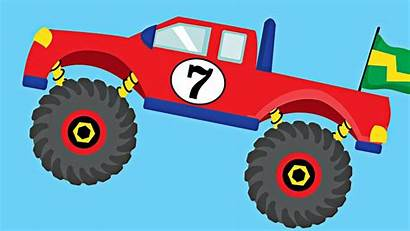 Monster Truck Trucks Clipart Clip Number Counting