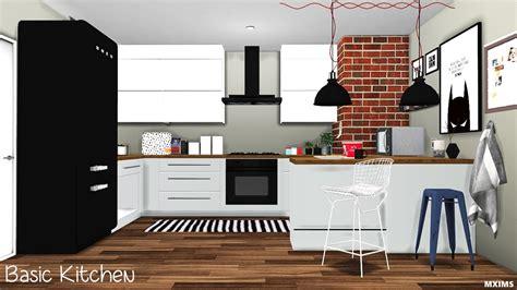 My Sims 4 Blog Basic Kitchen Set By Mxims