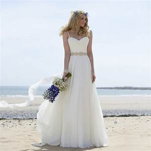 New style beautiful spaghetti straps pleated beaded a line for Formal beach wedding dresses