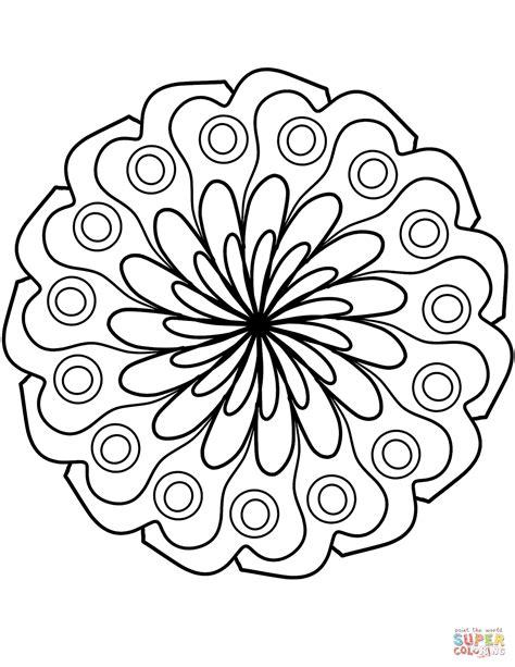 Kleurplaat Met Herfstbladeren Simpel by Eenvoudige Mandala Kleurplaten Krijg Duizenden