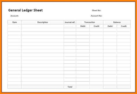 Business Ledger Template by 9 Free General Ledger Templates Ledger Review