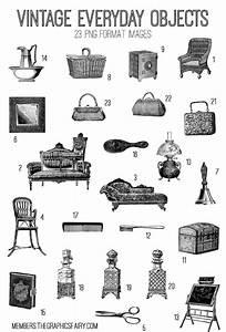Vintage Everyday Objects Image Kit! Graphics Fairy Premium ...