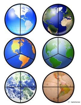 planet earth fraction circlescut paste  autism tpt
