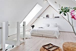 Modernes schlafzimmer dachschr ge mit dachfenster als for Schlafzimmer ideen mit dachschräge