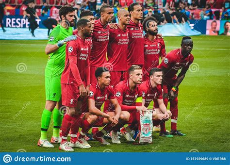 Madrid, Spain - 01 MAY 2019: The General FC Liverpool Team ...