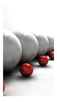 Download wallpapers 3d white balls, red balls 3d, 3d ...