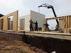 maison ossature bois posee sur dalle beton With dalle beton interieur maison
