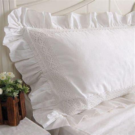 achetez en gros taies d oreiller avec dentelle blanche en ligne 224 des grossistes taies d